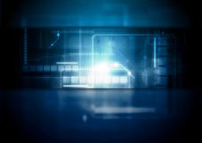 Fondo blu scuro di tecnologia di vettore illustrazione vettoriale