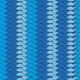 Fondo blu senza cuciture con le file tricottate Fotografia Stock