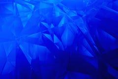 Fondo blu sfaccettato Fotografia Stock