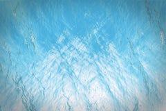 fondo blu subacqueo della superficie della rappresentazione 3d in mare Fotografie Stock Libere da Diritti