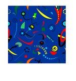 Fondo blu surrealista astratto, modello senza cuciture 18-29 Illustrazione Vettoriale