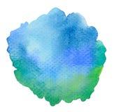 Fondo blu vivo dell'acquerello illustrazione vettoriale