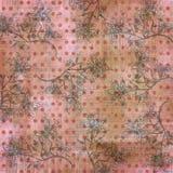 Fondo bohemio floral del libro de recuerdos de la tapicería de Grunge de la vendimia Fotos de archivo