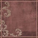 Fondo bohemio floral del libro de recuerdos de la tapicería de Grunge de la vendimia Imagenes de archivo