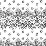 Fondo bohemio gitano floral del estilo ilustración del vector