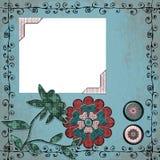 Fondo bohemio gitano floral del libro de recuerdos de la tapicería Fotos de archivo libres de regalías
