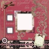 Fondo bohemio gitano floral del libro de recuerdos de la tapicería Foto de archivo