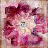 Fondo bohemio gitano floral del libro de recuerdos de la tapicería Foto de archivo libre de regalías