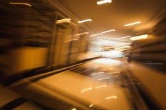 Fondo borroso abstracto en pasillo largo Fotos de archivo
