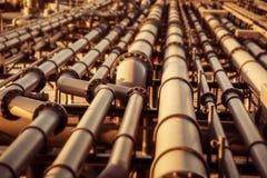 Fondo borroso coloreado del oleoducto Imagen de archivo