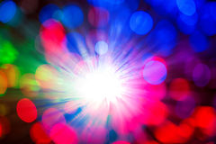 Fondo borroso con las fibras ópticas Imagen de archivo libre de regalías