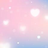 Fondo borroso con los corazones para el día de tarjeta del día de San Valentín del St Fotografía de archivo