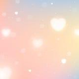 Fondo borroso con los corazones para el día de tarjeta del día de San Valentín del St Imágenes de archivo libres de regalías