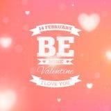 Fondo borroso con los corazones para el día de tarjeta del día de San Valentín del St Fotos de archivo libres de regalías