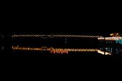 Fondo borroso de la luz en festival chino de la celebración Imagen de archivo libre de regalías