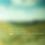 Fondo borroso de la naturaleza del vector Fotos de archivo