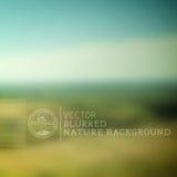 Fondo borroso de la naturaleza del vector Imagenes de archivo