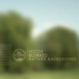 Fondo borroso de la naturaleza del vector Foto de archivo