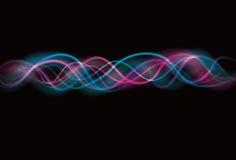 Fondo borroso de la onda del efecto luminoso stock de ilustración
