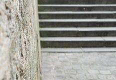 Fondo borroso de las escaleras Imágenes de archivo libres de regalías