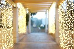 Fondo borroso de las luces de la Navidad Imagen de archivo libre de regalías