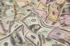 Fondo borroso del dinero Imágenes de archivo libres de regalías