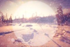 Fondo borroso del invierno Fotos de archivo libres de regalías