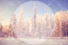 Fondo borroso del invierno Imagen de archivo libre de regalías