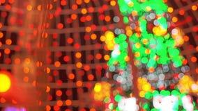 Fondo borroso extracto de Bokeh de las luces de la Navidad Concepto de las vacaciones de invierno metrajes