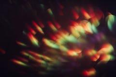 Fondo borroso extracto del brillo, llamarada del arco iris Fotografía de archivo