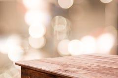 Fondo borroso extracto y piso de madera Fotos de archivo