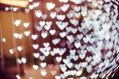 Fondo borroso forma del bokeh del corazón Imágenes de archivo libres de regalías