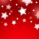 Fondo borroso la Navidad de los copos de nieve Fotos de archivo