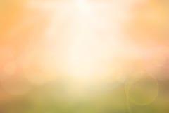 Fondo borroso puesta del sol ligera abstracta Foto de archivo libre de regalías