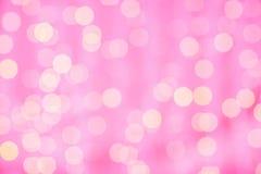 Fondo borroso rosa con las luces del bokeh Fotos de archivo libres de regalías