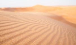 Fondo borroso textura de la duna de arena Fotografía de archivo libre de regalías