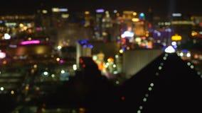 Fondo borroso tira de Las Vegas metrajes