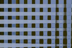 Fondo borroso varicolored del extracto de cuadrados en blanco fotos de archivo