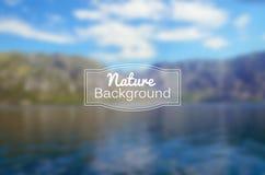 Fondo borroso vector de la naturaleza Mar y Fotos de archivo libres de regalías