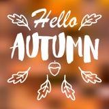 Fondo borroso vector del paisaje del otoño ilustración del vector
