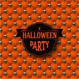Fondo botón-copetudo del partido de Halloween con Imágenes de archivo libres de regalías