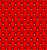 Fondo bottone-trapuntato rosso del velluto. Immagine Stock Libera da Diritti