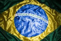 Fondo brasiliano serico della bandiera Immagine Stock
