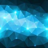 Fondo brillante abstracto azul del vector del hielo stock de ilustración