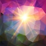 Fondo brillante abstracto del vector del mosaico Imagen de archivo