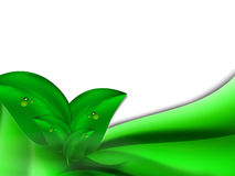 Fondo brillante abstracto del verano con las hojas del verde y las rayas horizontales verdes ilustración del vector