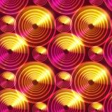 Fondo brillante abstracto rojo del vector de los círculos Imágenes de archivo libres de regalías
