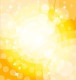 Fondo brillante amarillo con puntos culminantes Fotografía de archivo