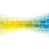 Fondo brillante azul amarillo de la tecnología stock de ilustración