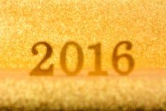 Fondo brillante brillante 2016 dell'oro della sfuocatura Immagini Stock